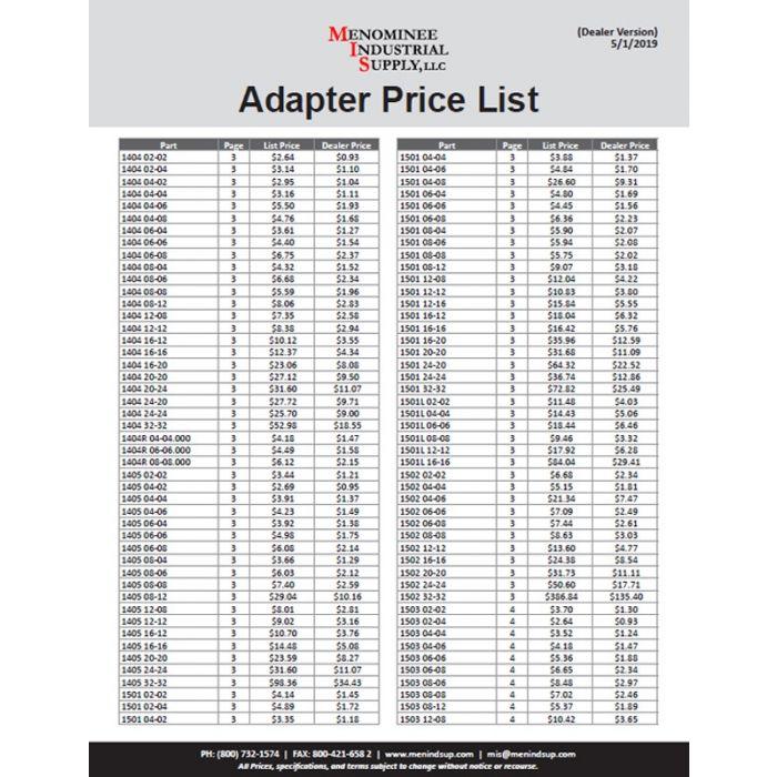 Adapter Price List